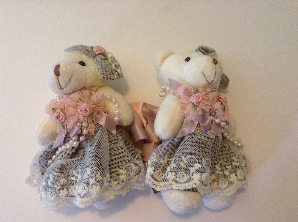 Pair Of Teddy Bear Tie Backs Nursery Kids Room Wedding decor