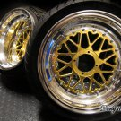 "Honda Ruckus wheels rims GOLD FACE MESH LOVE FULL 13"" + tires mounted"