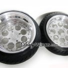"DW8RS  13"" FRONT / 13"" REAR billet forged Honda ruckus wheels rims + tires mounted"