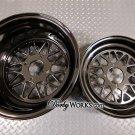 Honda Ruckus wheels rims DW MESH V2 Gloss black 12 / 13 staggered