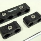 Black 3pc piece Billet Aluminum Cables Separators