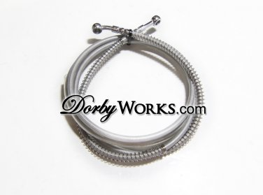 Stainless steel brake line, hydralic Teflon coated 90""