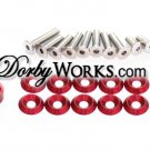 Honda Ruckus Billet Stainless hardware kit  RED Anodized