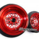 HONDA RUCKUS DWMESH V2 13X4 / 13X8 - TIRES MOUNTED  / CANDY RED