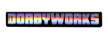 """DORBYWORKS DECAL 1"""" x 6"""" Rainbow Chrome"""