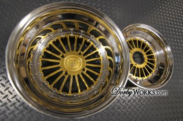 """FORMULA 2 piece CANDY GOLD"""" discount """" 12x4 front / 13x8 rear"""