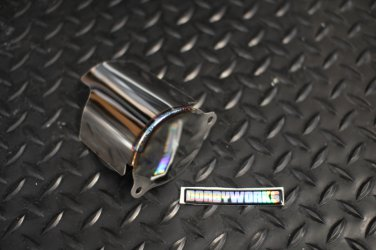 Starter cover polished stainless steel GY6