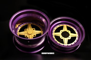 Dorbyworks DW4RS - ROYAL Edition 12x4 / 12x8 - tires mounted Custom Wheels rims