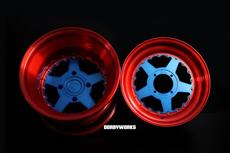 """DW STARS /  CAPTAIN EDITION "" HONDA RUCKUS WHEELS RIMS 12x4 / 12x8 tires mounted"