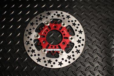 Dorbyworks Star 220mm Floating Rotor RED