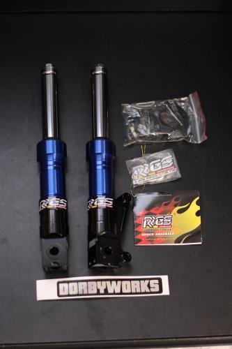 RRGS Ruckus Low Down Front Forks - BLUE BLACK
