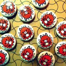 "Nine Tails - Mascot ""Kitsune-kun"" Button"