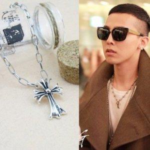 � BIG BANG G-DRAGON (Jiyong) - Antique Silver Cross Necklace - Kpop