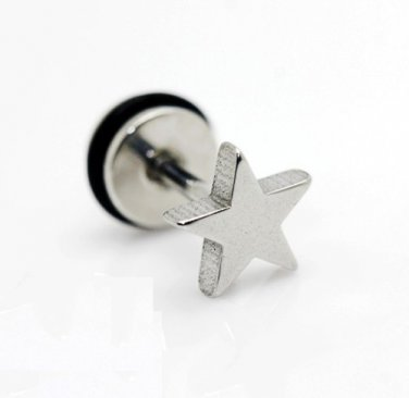 � BIG BANG - TVXQ - Silver Star Surgical Stainless Steel Earring Stud Men's