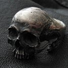 Skull Ring - Into The Fire - Sterling Silver Mens Ring Skull Ring Rock Handmade Jewelry 925 3