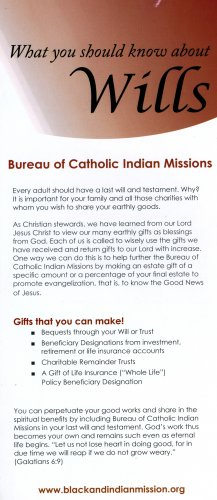 Information Card on Remembering the Bureau of Catholic Indian Missions - LIMITED QUANTITIES
