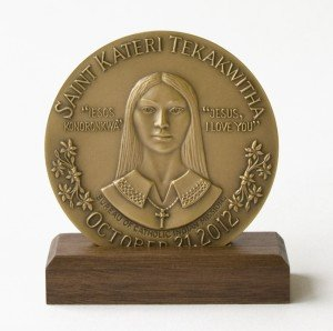 Saint Kateri Commemorative Medallion - Medium (2.5 inch).  (Original Price: $50)
