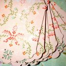 .12 Pink/Green Cross Stitch Labels/tags
