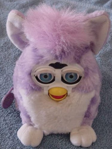 Tiger Electronics 1999 Purple Striped Furby Plush 5""