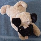 "Aurora Dog Floppy Stuffed Plush 12"" Soft Laying down"