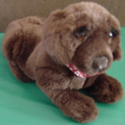Dakin Huggables Brown Dog Barking Stuffed Plush 9""