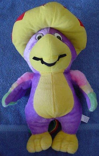 """King Plush Purple Parrot Sombrero Stuffed Plush 13"""""""