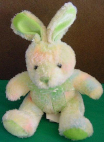"Wal-mart Bunny Rabbit Pastel Tie Dye Stuffed Plush 6"""