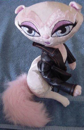 "Bratz Petz Leather Jacket Cat Posable Stuffed Plush 10"""