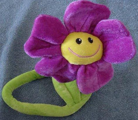 "Calplush Bendy Stem Smiley Flower Stuffed Plush 18"""