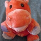 Circus Circus Pink & Purple Hippo Stuffed Plush 8""