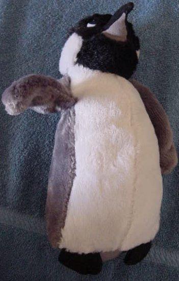 "Classic Toy Co Penguin Gray & Black Stuffed Plush 9"""