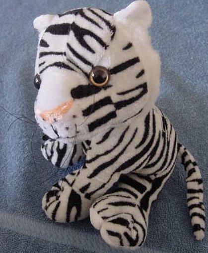 Circus Circus White Tiger Black Stripes Stuffed Plush