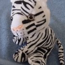 Circus Circus White Tiger Black Stripes Stuffed Plush