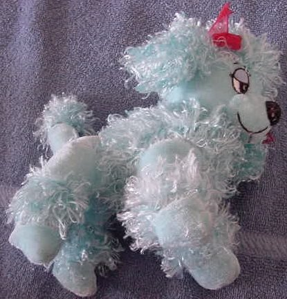 Manley Toy Direct Blue Poodle Dog Stuffed Plush 6""