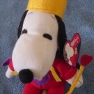 "Peanuts Snoopy Dog King Stuffed Plush 6"" Tag Whitman's"