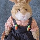Plushland Bunny in Denim Jumper Dress Beanie Plush