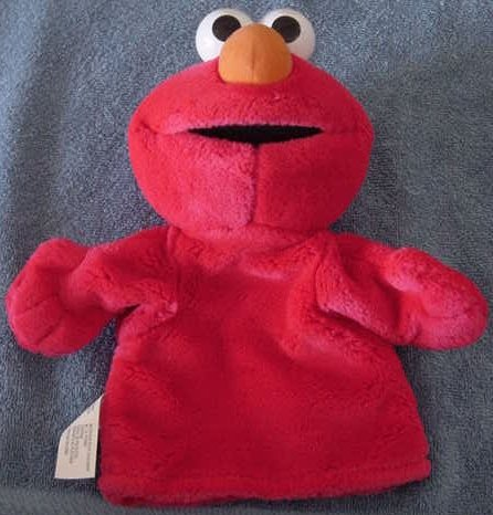 "Sesame Street Elmo Puppet Stuffed Plush 10"" Muppet"