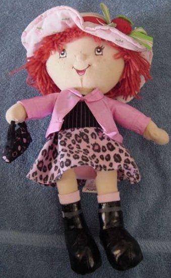"Strawberry Shortcake Pink Leopard Skirt Doll Plush 12"""