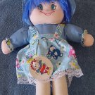 "HBL HUBE Rag Doll Blue Hair Stuffed Plush 12"" Tag"