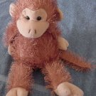 Lenovia Stringy Fur Chubby Brown Monkey Stuffed Plush