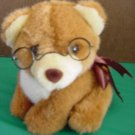 Mainland Bridge Bear or Dog Glasses Stuffed Plush 6""