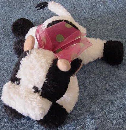 """Chosun Black & White Cow Beanie Stuffed Plush 9"""""""