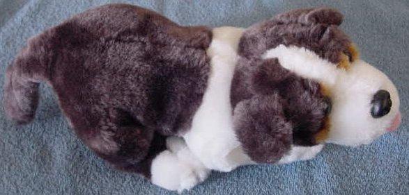 """Calplush Brown & White Hound Dog Stuffed Plush 10"""""""