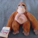 "Disney King Louie Ape Jungle Book Beanie Plush 6"" Tag"