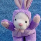 Galerie White Bear Purple Bunny Suit Stuffed Plush 5""