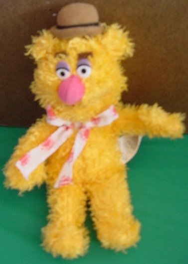 "Muppet Show Sababa Fozzie Bear Beanie Stuffed Plush 9"""