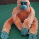 Orange & Blue Ape Velcro Hands Stuffed Plush 12""