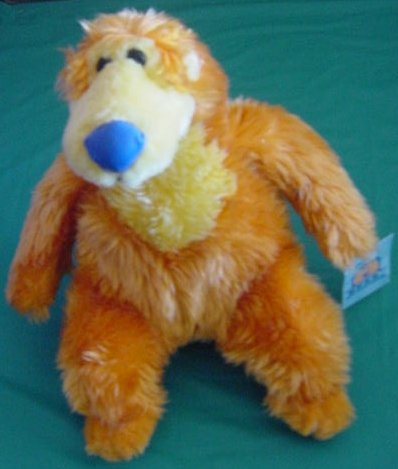 "Orange Fuzzy Bear Big Blue House Stuffed Plush 9"" Nanco"