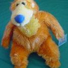 "Orange Fuzzy Bear Big Blue House Stuffed Plush 9"" Nanco"