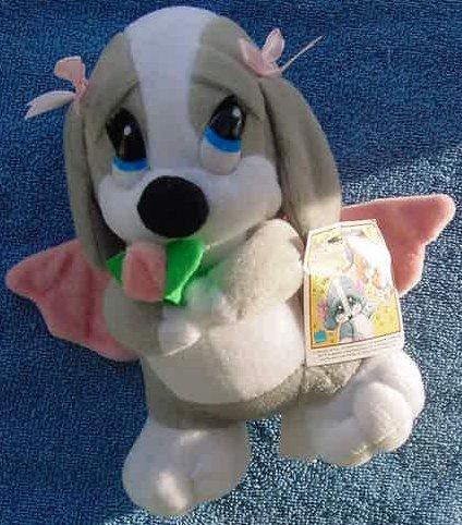 "Sad Sam Honey Angel Basset Hound Stuffed Plush 8"""